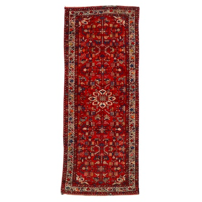 4' x 9'10 Hand-Knotted Persian Hamadan Long Rug