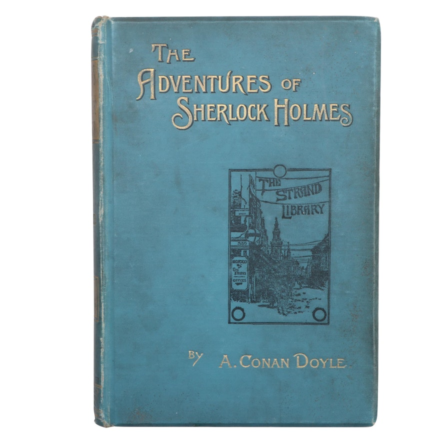 """First UK Edition """"The Adventures of Sherlock Holmes"""" by A. C. Doyle, 1892"""