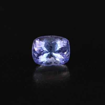 Loose 3.14 CT Cushion Faceted Tanzanite
