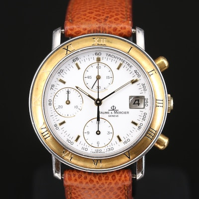 Baume & Mercier Transpacific Baumatic Chronograph Wristwatch
