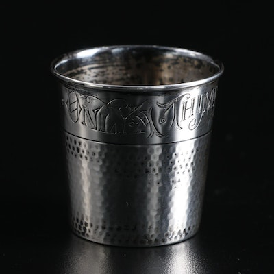 "Webster ""Only a Thimble Full"" Sterling Silver Shot Glass"