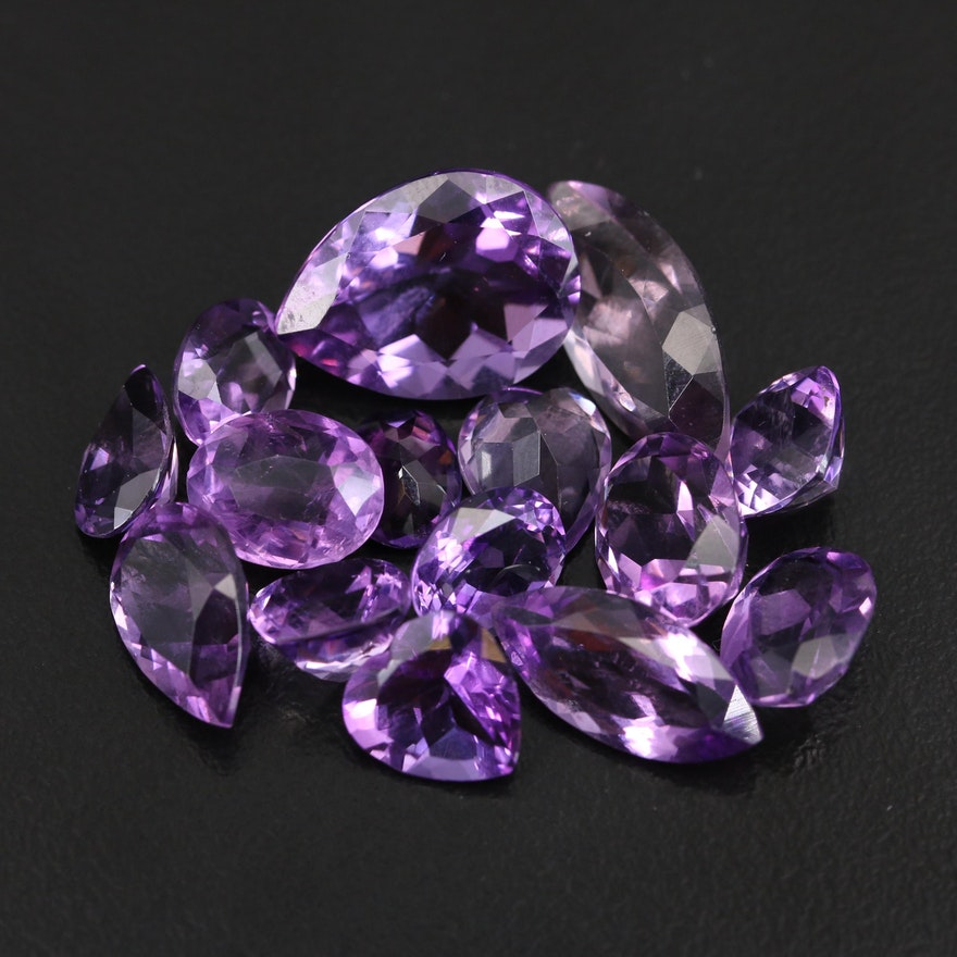 Loose 41.82 CTW Mixed Faceted Amethyst