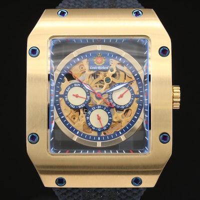 Louis Richard Automatic Skeleton Wristwatch