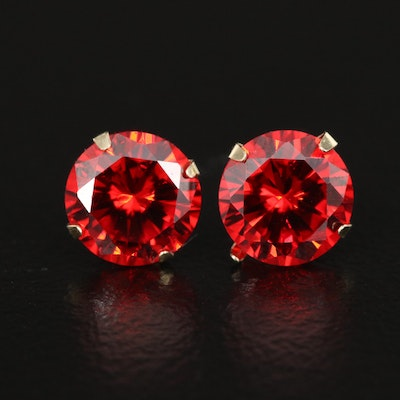 10K Martini Set Cubic Zirconia Stud Earrings