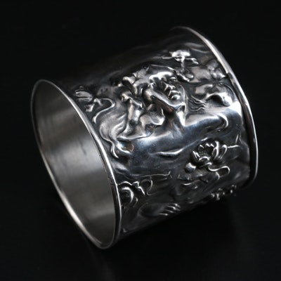 American Art Nouveau Sterling Silver Napkin Ring, 1904
