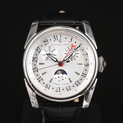 Constantin Weisz Triple Date Moonphase Wristwatch