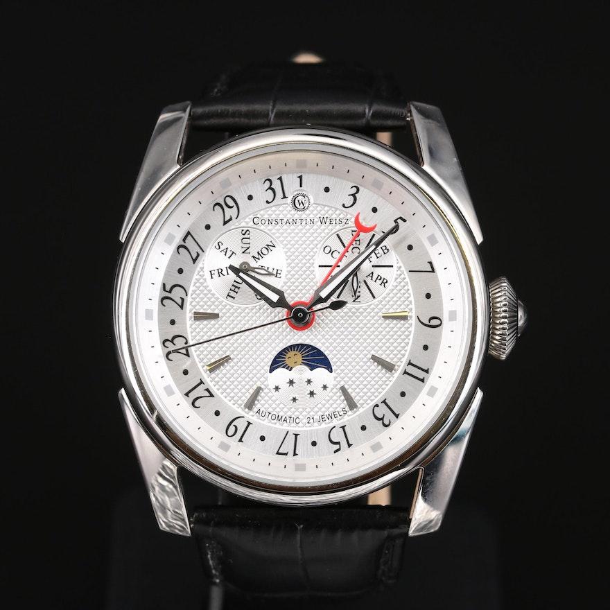 Constantin Weisz Triple Date Moonphase Wristwatch