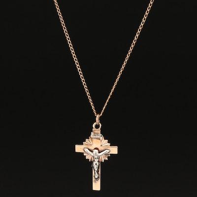 10K Crucifix Pendant Necklace