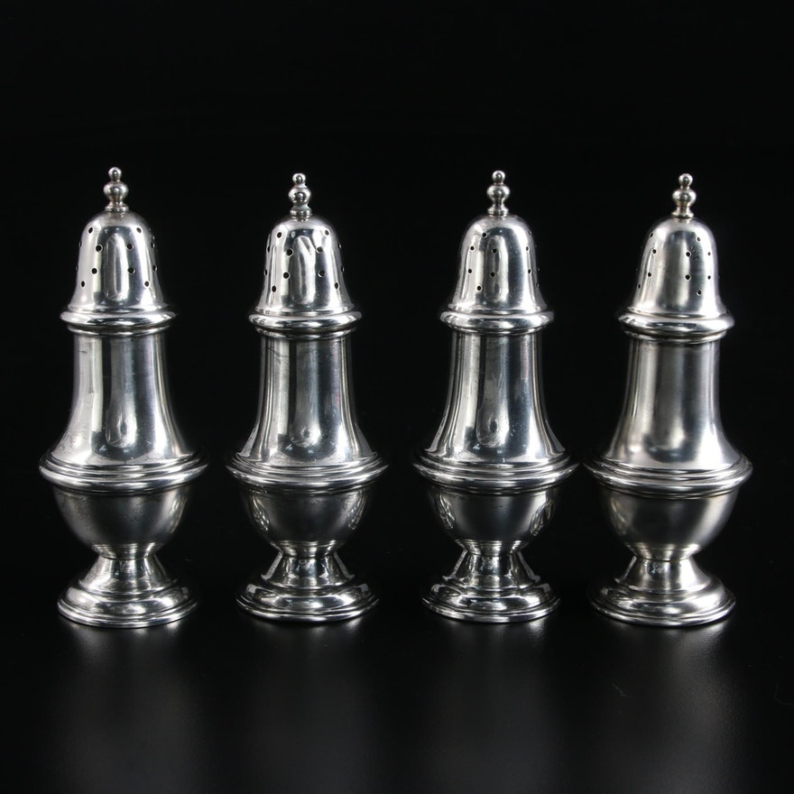 National Silver Co. Sterling Silver Salt and Pepper Shakers