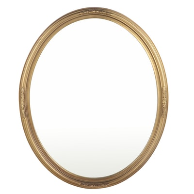 The Uttermost Company Gilt Composite and Beveled Glass Mirror