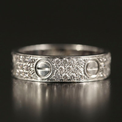 "Cartier ""Love"" 18K 1.00 CTW Diamond Eternity Band"
