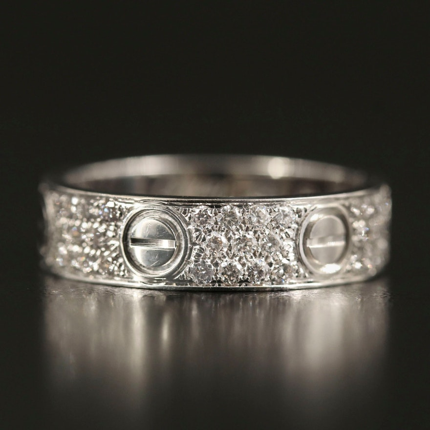 "Cartier ""Love"" 18K 1.00 CTW Diamond Eternity Band"