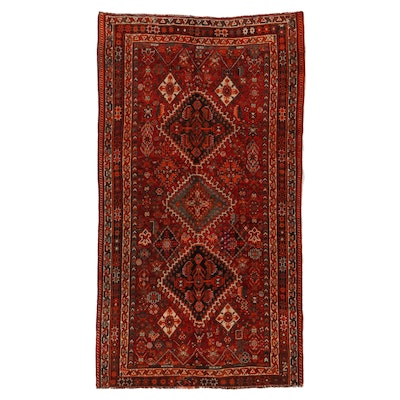4'9 x 8'7 Hand-Knotted Persian Shiraz Luri Area Rug