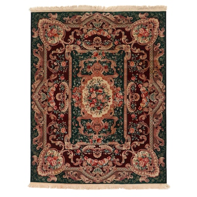 7'9 x 10'6 Hand-Knotted Sino-French Savonnerie Style Area Rug