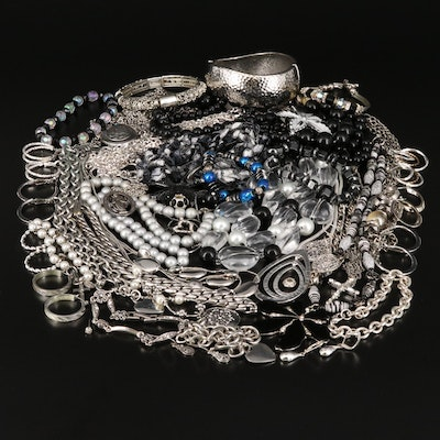Hammered Finish Bangle, Beaded Necklaces and More
