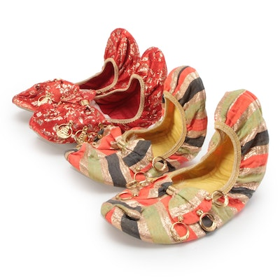 Feather Step Southeast Asian Inspired Ballet Flats