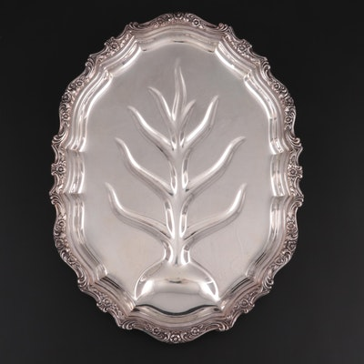 "International Silver ""Countess"" Silver Plate Meat Platter with Tree Well"