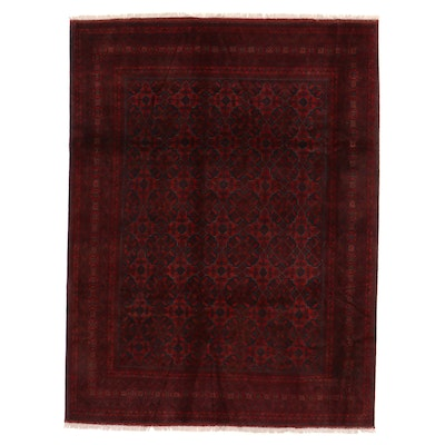 8'6 x 11'6 Hand-Knotted Afghan Kunduz Room Sized Rug
