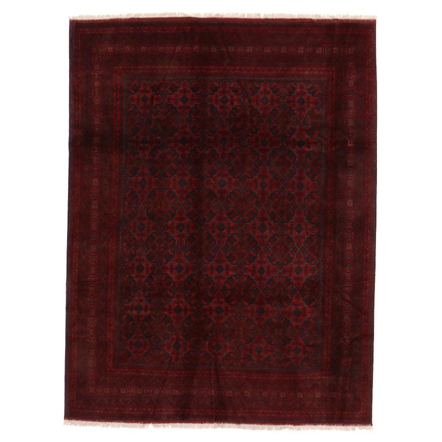 8'6 x 11'6 Hand-Knotted Afghan Kunduz Room Sized Rug
