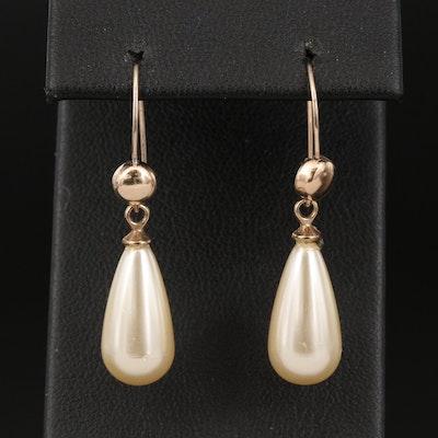 Imitation Pearl Teardrop Earrings
