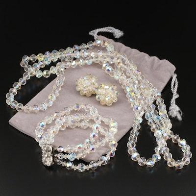 Vintage Aurora Borealis Crystal Jewelry