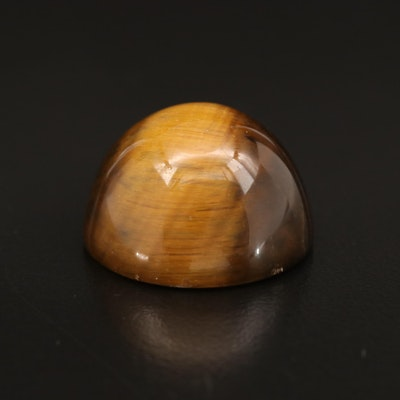 Loose Round Tiger's Eye Cabochon