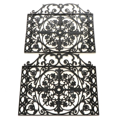 Victorian Cast Metal Pierced Architectural Grate Covers