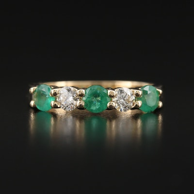 EFFY 14K Diamond and Emerald Band