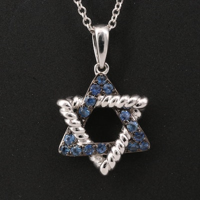 EFFY 14K Sapphire Star of David Pendant Selection