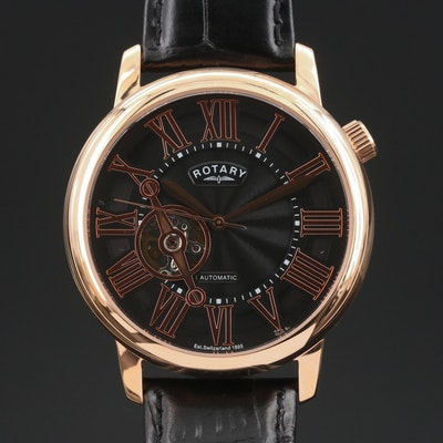 Rotary Rose Gold Tone Automatic Wristwatch