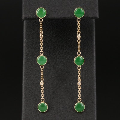 EFFY 14K Jadeite Linear Drop Earrings