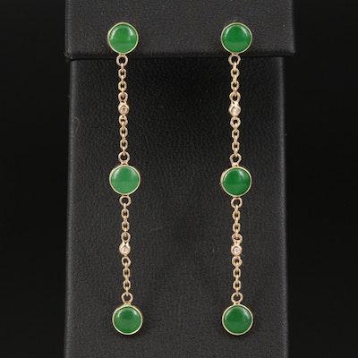 EFFY 14K Jadeite Linear Drop Earrings