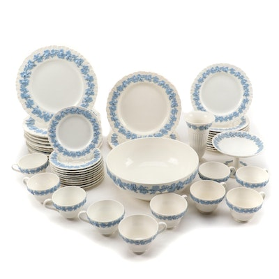 Wedgwood Embossed Queen's Ware Dinnerware