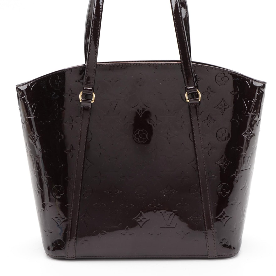 Louis Vuitton Avalon GM Shoulder Bag in Amarante Monogram Vernis Leather