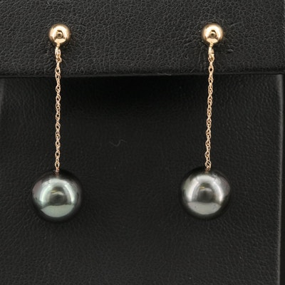 EFFY 14K Tahitian Pearl Drop Earrings