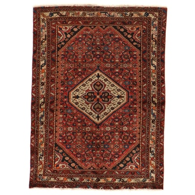 4'7 x 6'4 Hand-Knotted Persian Malayer Herati Area Rug