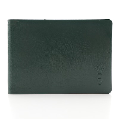 Rolex Gilt Edged Green Leather Address Book with Gift Box