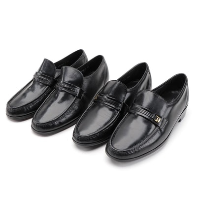 Men's Florsheim Black Leather Dress Shoes with Shoe Trees