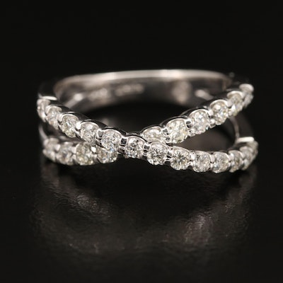 EFFY 14K Diamond Crossover Band