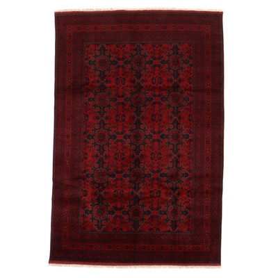 6'8 x 10'3 Hand-Knotted Afghan Kunduz Area Rug