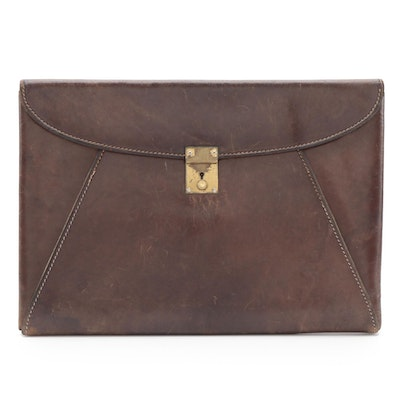 Gucci Portfolio Document Case in Brown Leather