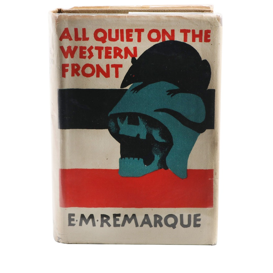 """Signed """"All Quiet on the Western Front"""" by Erich Maria Remarque, 1929"""