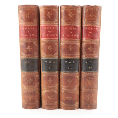 """The Works of Edgar Allan Poe"" Complete Four-Volume Set, 1871"