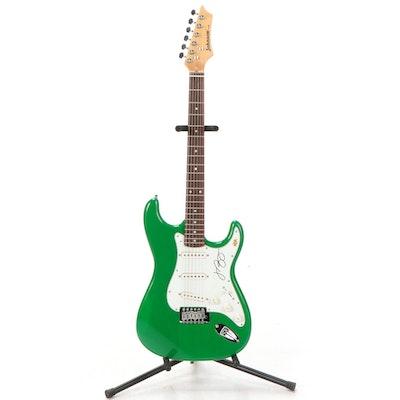 Jimmy Buffett Signed Johnson Electric Guitar, COA
