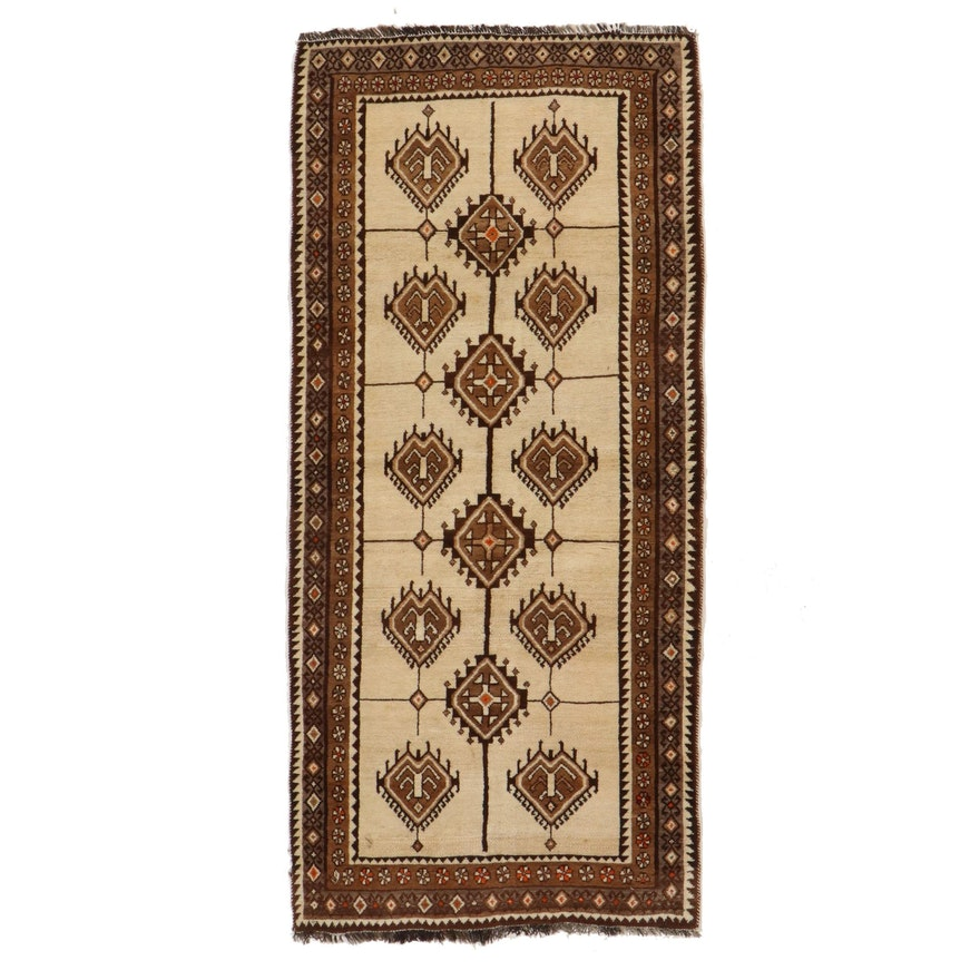 3'5 x 7'7 Hand-Knotted Persian Baluch Long Rug