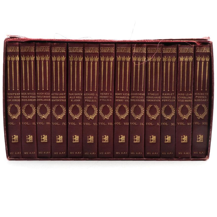 """The Pocket Shakespeare"" Complete Thirteen-Volume Set, c. 1900"