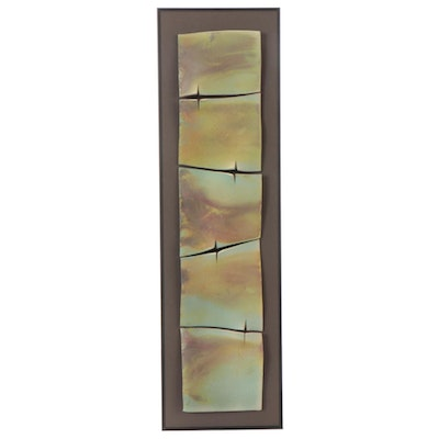Penny Truitt Raku Fired Tile Wall Sculpture, 1999