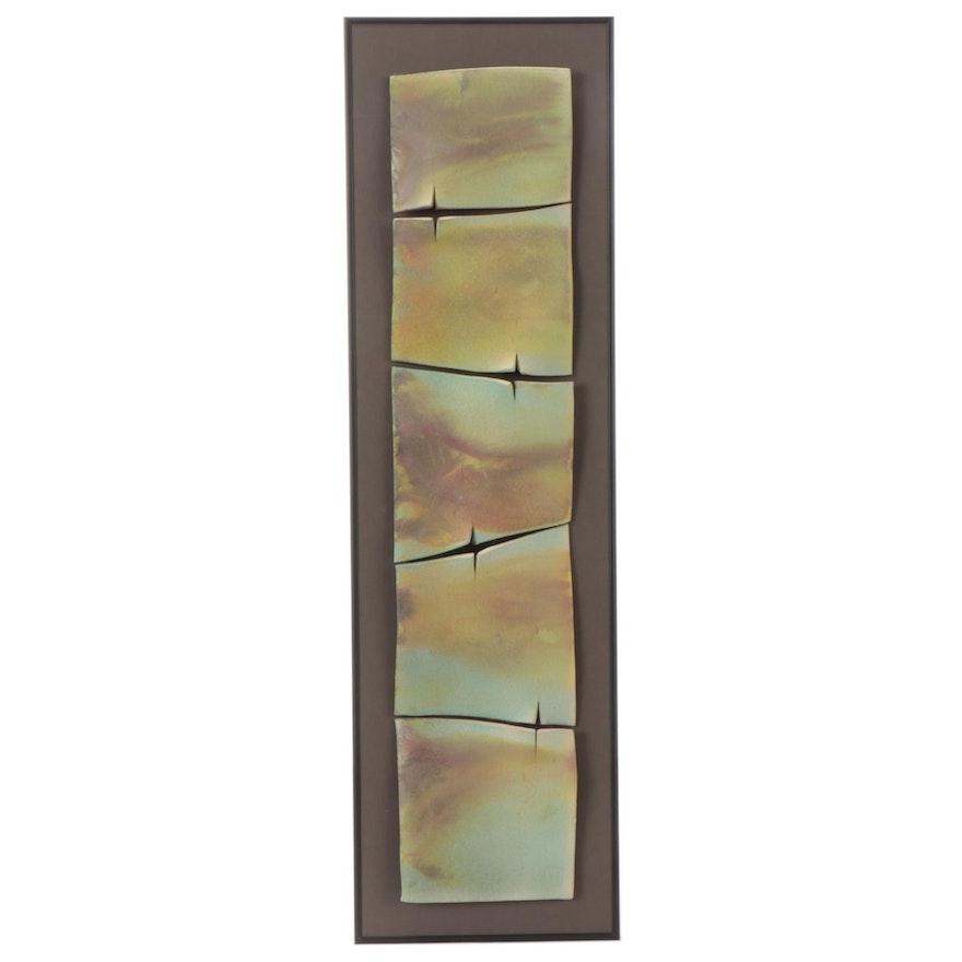 Penny Truitt Raku Fired Tile Wall Sculpture, 1999