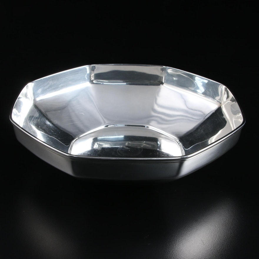 Tiffany & Co. Octagonal Sterling Silver Bowl, Mid-20th Century