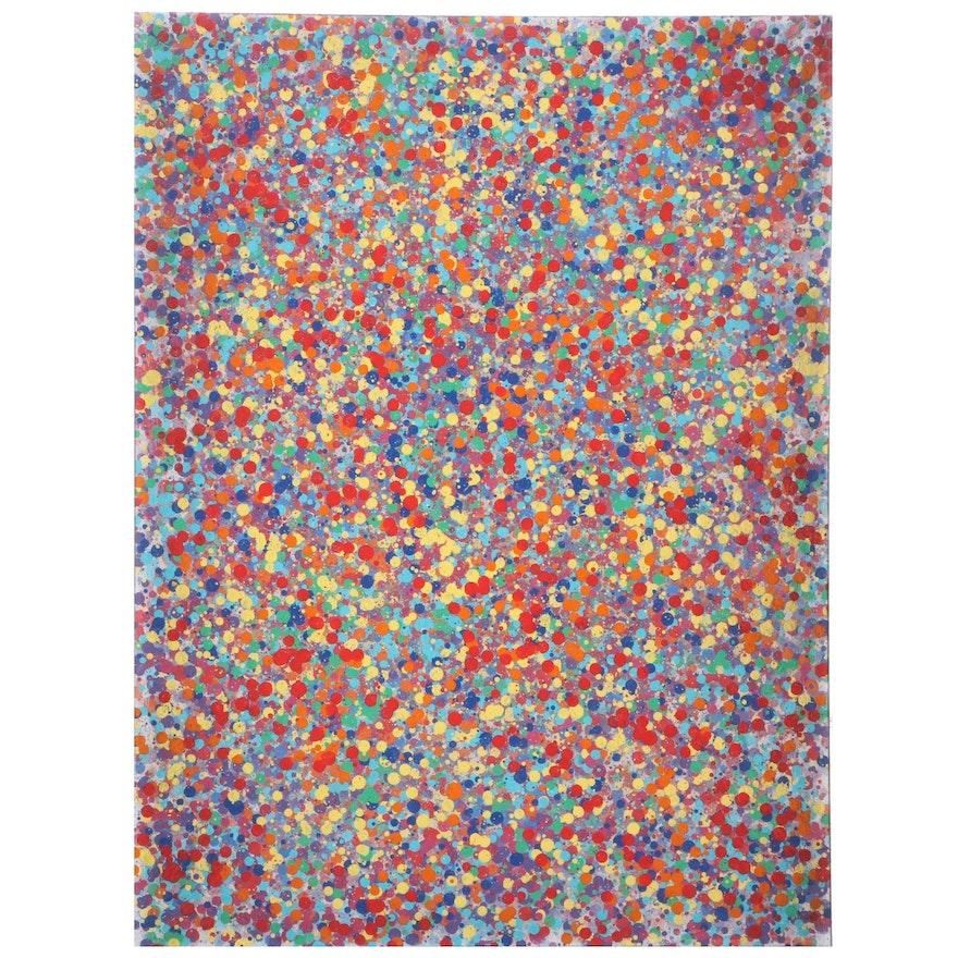 "Jason Michael Durham Abstract Mixed Media Painting ""Emerging"""